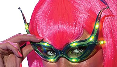 Rubie's Costume Alien Raver Light-Up Glasses Multi One Size Rubies Costumes - Apparel 30837