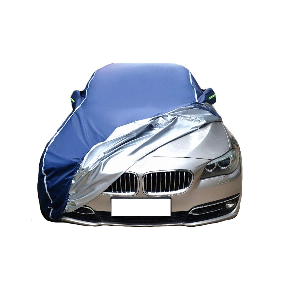 Car Cover Four Seasons Universal Waterproof UV Breathable Dustproof Guard Outdoor Protection Compatible with Mercedes Benz AMG E53 Car Cover Color : Blue