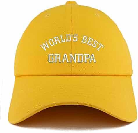 c39e3c0a59a Trendy Apparel Shop World s Best Grandpa Embroidered Low Profile Soft Cotton  Dad Hat Cap
