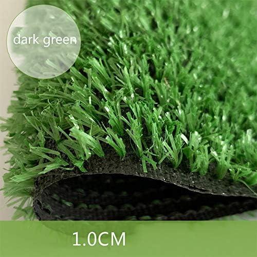 GAPING 人工芝、人工芝、10mmパイル高密度休暇用芝生、リアルな庭のペットの犬用芝生、2色で利用可能 (Color : Dark green, Size : 2x1.5m)