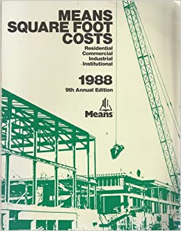 means square foot costs 1988 r s means company