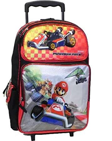7fc9469d003f Amazon.com  Full Size Red Mario Kart Rolling Backpack - Mario Kart ...