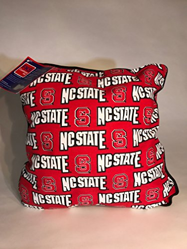 Nc State Pillow - FKS Cushions, Etc. Officially Licensed College Throw Pillows-NCAA Decorative Accent Pillows (North carolina State)