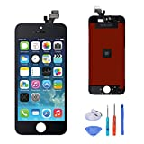 SANKA LCD Display Touch Screen Digitizer Frame Assembly Full Set Screen Replacement for iPhone 5-Black