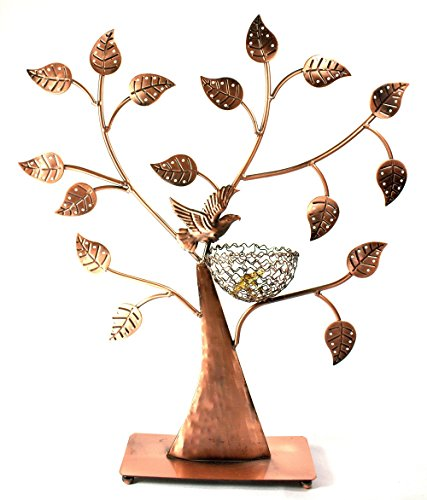 Bird Nest Jewelry Tree Earring Holder~Bracelet Stand~Necklace Organizer Jewelry Display (Bronze) by BJ ()