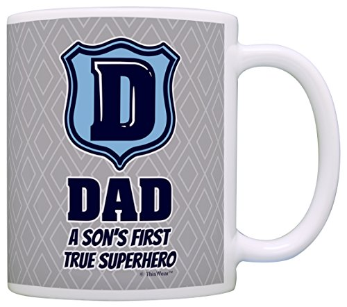 Fathers Gifts First Superhero Coffee