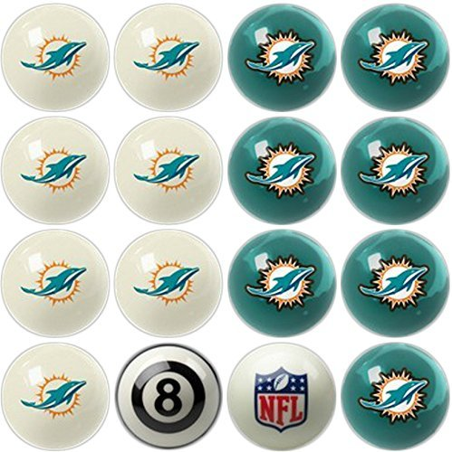 Imperial Officially Licensed Miami Dolphins Football Billiard Pool Cue Ball Set