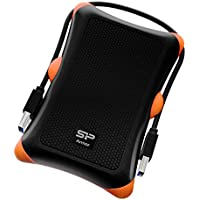 Silicon Power 2TB Rugged Armor A30 Military Grade Shockproof USB 3.0 2.5 Inch Portable External Hard Drive for PC, Mac, Xbox One, Xbox 360, PS4, PS4 Pro and PS4 Slim, Black