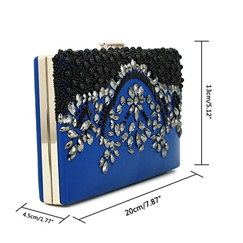 Wedding Clutch Bridal Prom Gold Women Bag Purse Bead Handmade Senoow Party Evening Wallet qR8wpXx4X