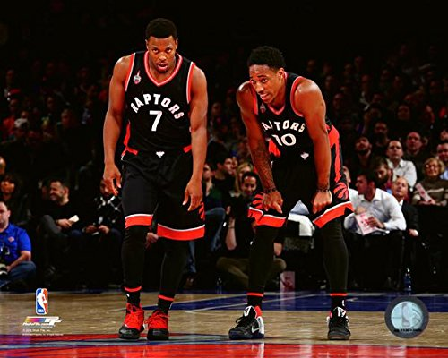 Kyle Lowry & DeMar DeRozan Toronto Raptors 2015-2016 NBA Action Photo (Size: 8