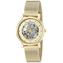 Stuhrling Original Women's 832L.03 Castorra Analog Display Automatic Self Wind Gold Watch