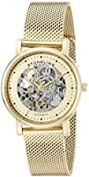 Stuhrling Original Women's 832L.03 Castorra Analog Display Automatic Self Wind Gold Watch