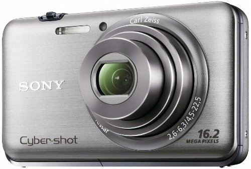 Sony Cyber-Shot DSC-WX9 16.2 MP Exmor R CMOS Digital Still Camera with Carl Zeiss Vario-Tessar 5x Wide-Angle Optical Zoom Lens and Full HD 1080/60i Video (Silver) For Sale