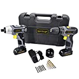 Werktough CC006 Cordless Drill Driver Impact Screwdriver Kit Double Li-on Battery With Charger 1/4″ Review