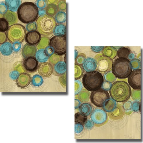 Whimsy I & II by Jeni Lee 2-pc Premium Stretched Canvas Set (Ready-to-Hang)