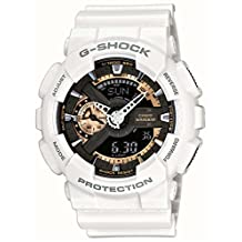 Mens Watch Casio GA110RG-7A G-Shock White G-Shock Rose Gold Digital Dial Anti-Ma