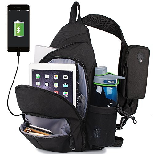 WANDF Anti-Theft Sling Bag Travel Crossbody Backpack for 12