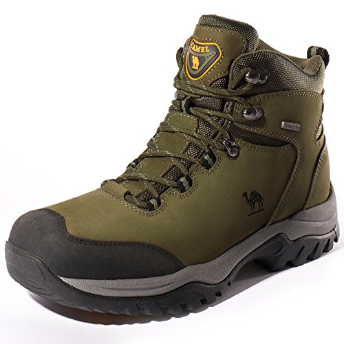 CAMEL CROWN Men's Waterproof Hiking Boots Comfortable Warm Leather Snow Boots Lightweight Trekking Shoes for Working