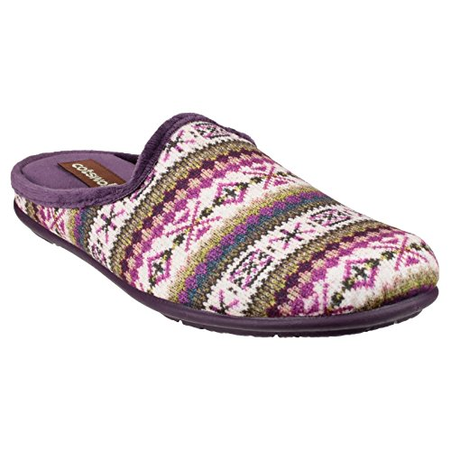 Patterned Cotswold Purple Mule Bisley Slipper Womens Ladies gRwHq1U