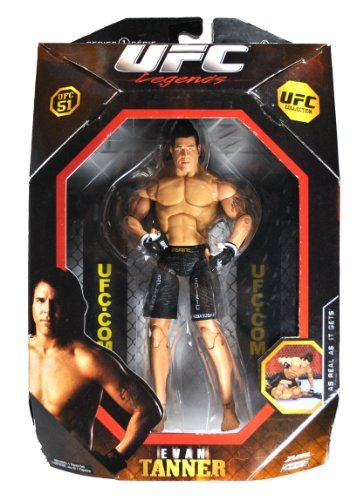 (Jakks Pacific Year 2009 Series 1 Ultimate Fighting Championship UFC 51 Legends Collection 7-1/2 Inch Tall Action Figure - EVAN TANNER by UFC)