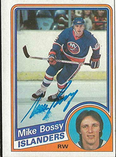 - Mike Bossy 1984 Topps Autograph #91 Islanders - Hockey Slabbed Autographed Cards
