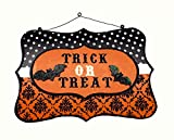 Trick or Treat Wooden Halloween Wall Sign - 12""
