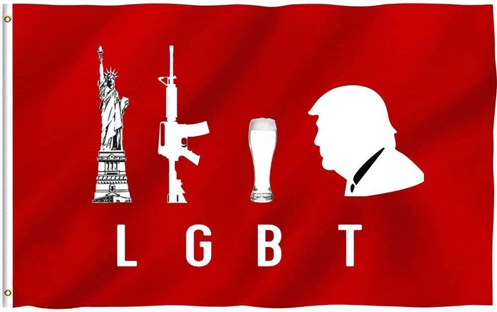 Oersted Libert Guns Beer Trump Party Flag,Home Flag,Garden Flag,100% Polyester Flag,for Indoor/Outdoor
