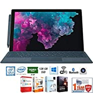 "Microsoft LGP-00001 Surface Pro 6 12.3"" Intel i5-8250U 8/128GB Convertible Laptop + Elite Suite 17 Software Bundle (Office Suite Pro, Photo Editor, PDF Editor, PCmover Pro) + 1 Year Extended Warranty"