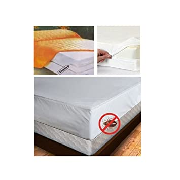 Amazon Com Full Size Mattress Cover Zipper Waterproof Plastic Bed