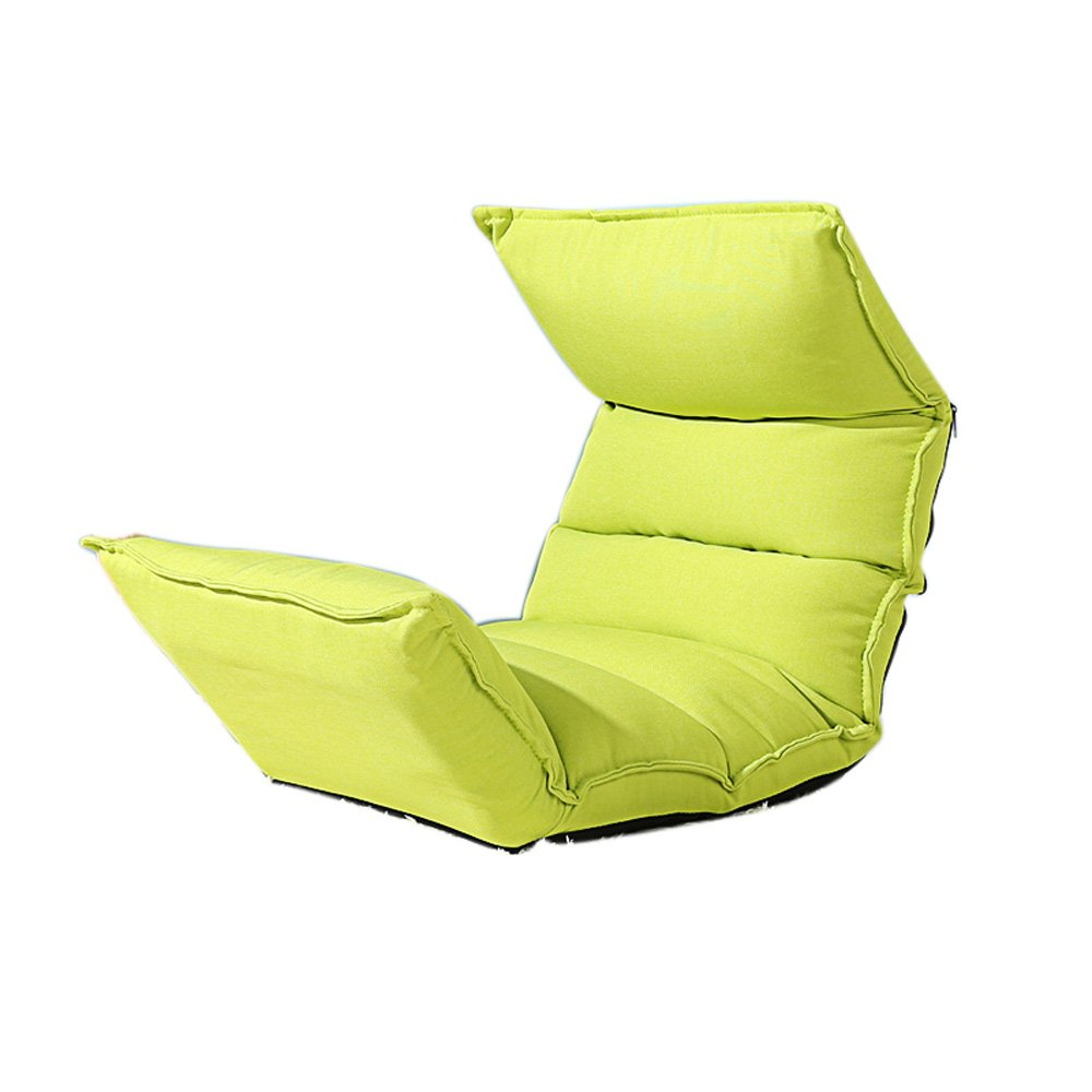 SYF Fruit Green Lazy Sofa Simple Single Folding Small Sofa Chair Cute Bedroom Folding Chair Bedside Back Game Chair 124x50x13cm A+