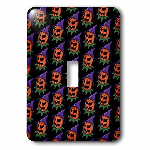 3dRose lsp_55011_1 Pattern Halloween Jack O Lantern 2 Toggle Switch]()