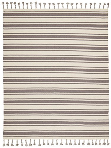 Stone & Beam Los Altos Striped Dhurrie Area Rug, 8' x 10'6,