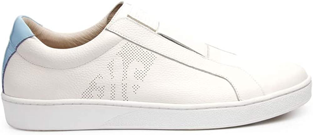 ROYAL ELASTICS Mens Bishop Classic White Blue Leather Sneakers