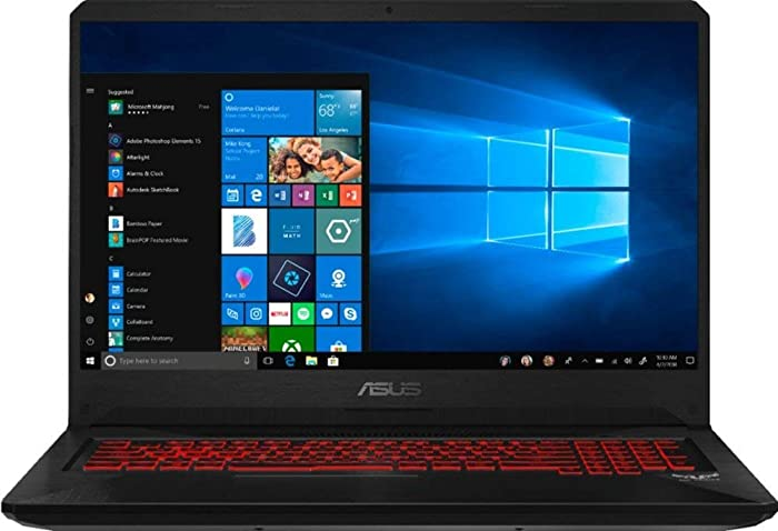 "Flagship Asus TUF FX705GM 17.3"" FHD IPS VR Ready Gaming Laptop, Intel Six-Core i7-8750H up to 4.1GHz 3GB GeForce GTX 1060 16GB DDR4 256GB PCIe SSD WIFI Bluetooth 5.0 Backlit Keyboard Win 10 (Renewed)"