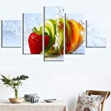 lglays(No Frame Home Decor Canvas Painting Fruit Hd Prints 5 Pieces Wall Art Vegetable Modular Food Pictures Bedside Background Artwork Poster