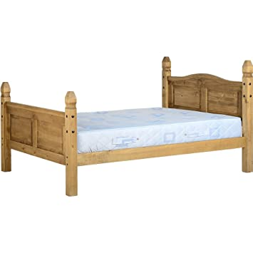 seconique corona mexican king size pine bed frame