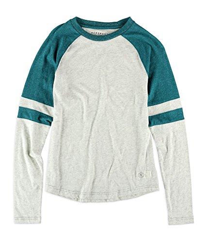 Tone T-shirt Raglan (Aeropostale Mens 2-Tone Raglan Embellished T-Shirt Green XS)