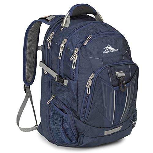 High Sierra XBT TSA Laptop Backpack, True Navy/Charcoal