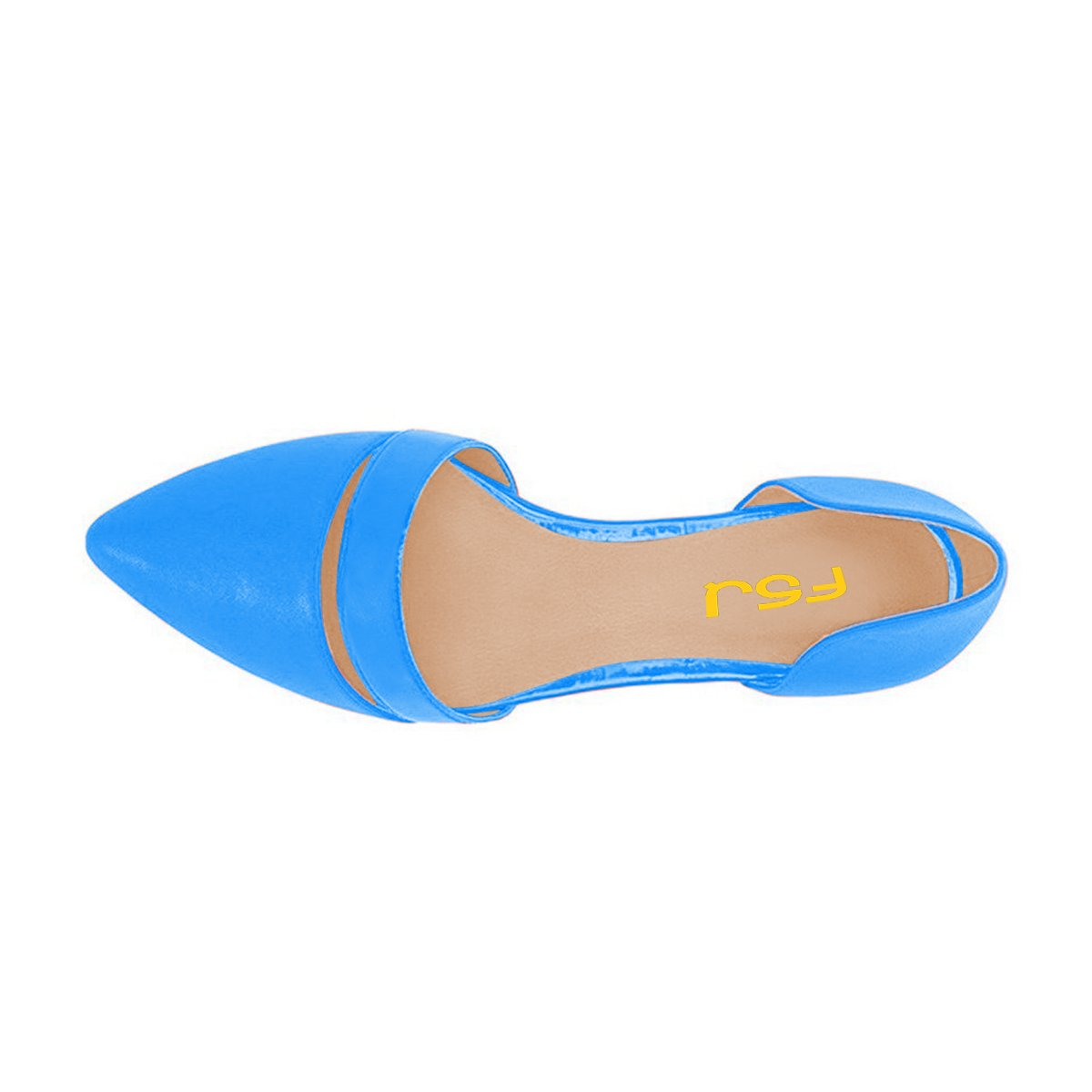 FSJ Women Cute D'Orsay Ballet Flats for Comfort Dress Pointed Toe Low Heels Dress Comfort Shoes Size 4-15 US B06Y4PBTZF 9 B(M) US|Blue 2ddd53