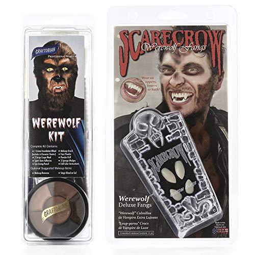 Graftobian Makeup Kit & Teeth Combo - Werewolf