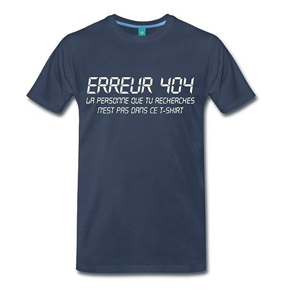 Spreadshirt Geek Erreur 404 Personne Manquante T-shirt Premium Homme   Amazon.fr  Vêtements et accessoires f8addee76709