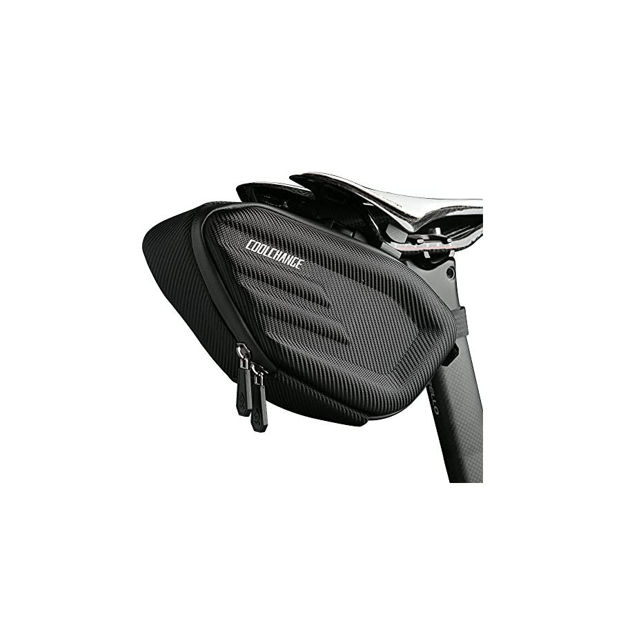 Cool Change Bike Saddle Bag Fully Waterproof | Large Capacity | Tough EVA 3D Shell | Buckle Install Cycling Bag