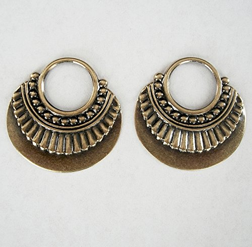 BeadsTreasure 2-OX Brass Stamping Open Loop Pendant Earring Jewelry Findings.