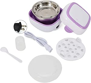 Multifunctional Electric Lunch Box Mini Rice Cooker Portable Food Steamer Portable Bento with Stainless Steel Container