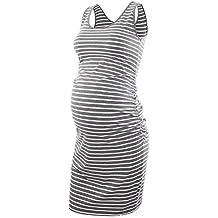 Liu & Qu Women's Maternity Sleeveless Tank Dresses Mama Scoop Neck Baby Shower Vestido