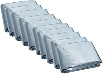 "50 PACK • Emergency Solar Blanket Survival Safety Insulating Mylar 84/"" x 52/"""