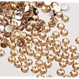 Beading Station 1440-Piece Flat Back Brilliant 14-Cut Round Rhinestones, 3mm-10ss, Champagne