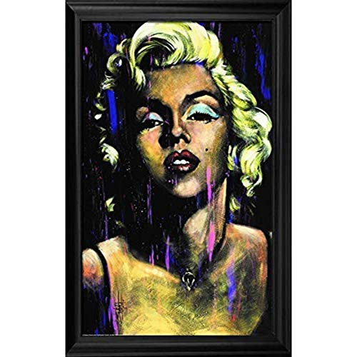 Marilyn Monroe Candle in the Wind Wall Art Decor Framed Print | 24x36 Premium (Canvas/Painting Like) Textured Poster | Vintage Iconic Movie Picture | Fan Memorabilia Gifts for Guys & Girls Bedroom