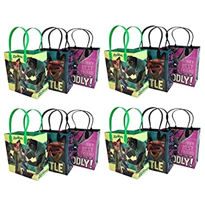 Disney Zootopia 12 Pcs Goodie Bags Party Favor Bags Gift Bags Birthday Bags: Toys & Games