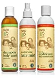 CARA B Naturally Hair Care Bundle - Includes Shampoo/Body Wash, Leave-in Conditioner/Daily Moisturizer and Moisturizing Hair Mist - Pack of 3 at 8 Ounces